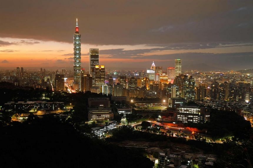 The skyline of Taipei, capital of Taiwan, on Nov 5, 2018.