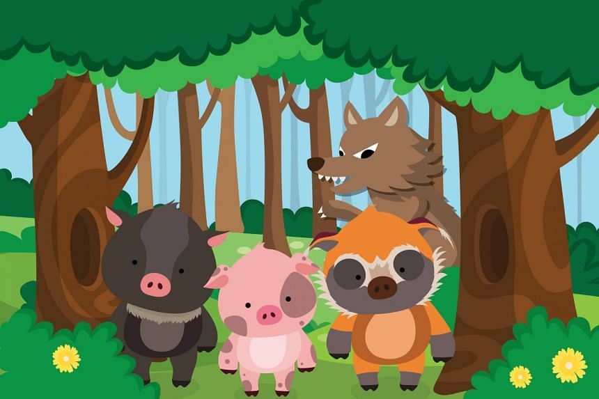 Was the Big Bad Wolf really all that bad? Find out the truth at the Three Little Pigs: A Lunar Adventure story walk at the Singapore Zoo and River Safari this Lunar New Year. PHOTO: WILDLIFE RESERVES SINGAPORE