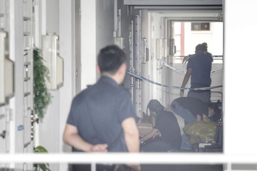 Police found the woman dead in a room in Woodlands Avenue 6.