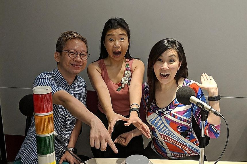 Life writers (from left) Boon Chan, Melissa Sim and Rebecca Lynne Tan talk about Chinese New Year cookies, among other topics.