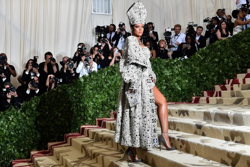 File photo of Rihanna arriving for the Met Gala at the Metropolitan Museum of Art in New York, on May 8, 2018.