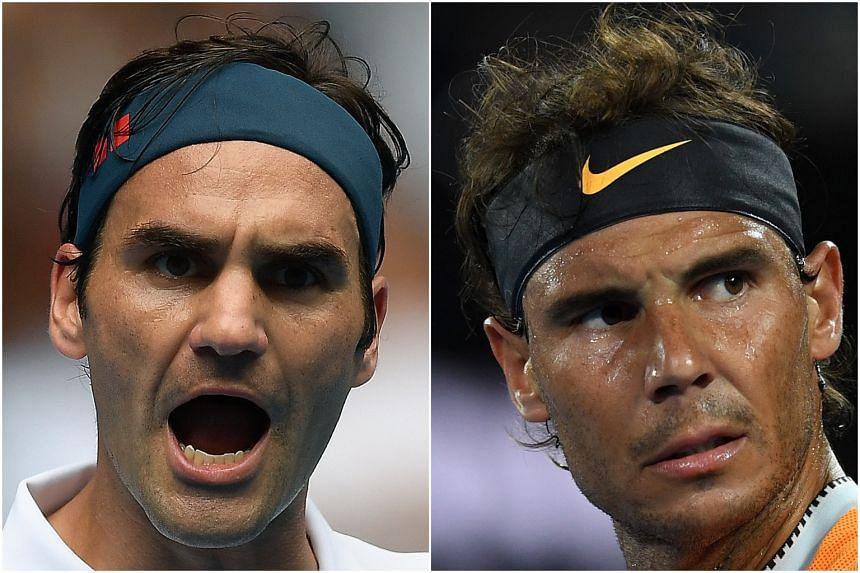 Winner of 20 Slams Roger Federer (left) and 17-time Major winner Rafael Nadal fail to see eye to eye on the new Japanese-made Dunlop balls for this year's Australian Open.