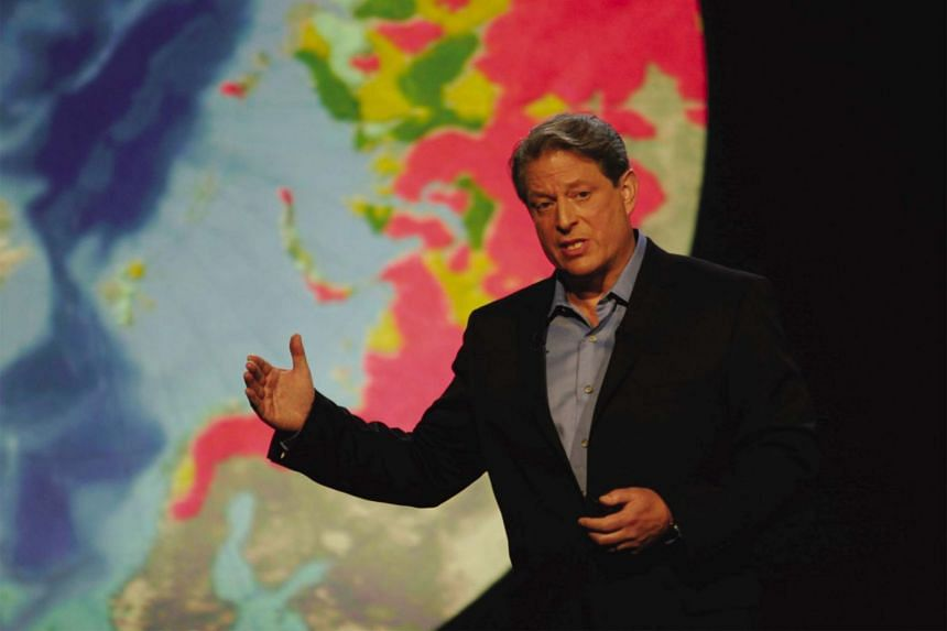 Former United States vice-president Al Gore in a television still of documentary film, An Inconvenient Truth.