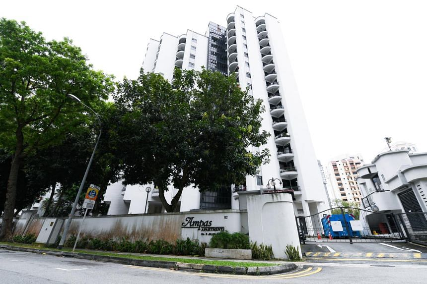 An exterior view of the Ampas Apartment building situated at 5 Jalan Ampas, on Jan 18, 2019.
