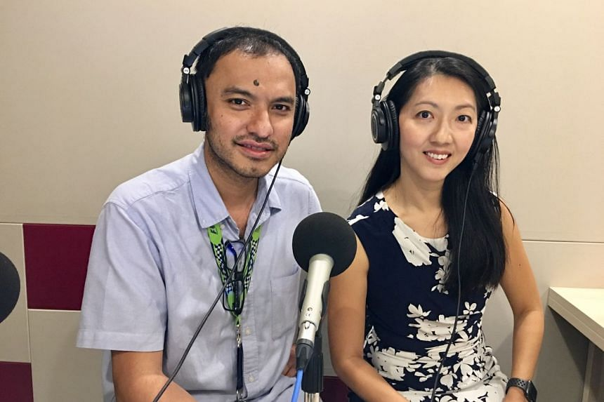 Money Hacks podcast host Ernest Luis (left) chats with Standard Chartered Bank Singapore's Natalia Goh and finds out tips for responsible credit card use and borrowing.