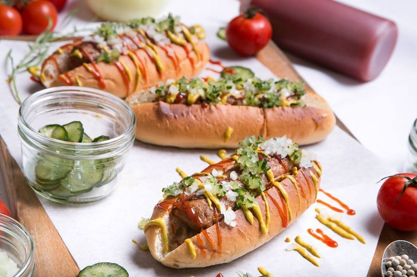 The Grand Hyatt Singapore hotel launched Beyond Sausage - a vegan sausage made of peas, fava beans, rice, beet and coconut oil - on Jan 17, 2019.