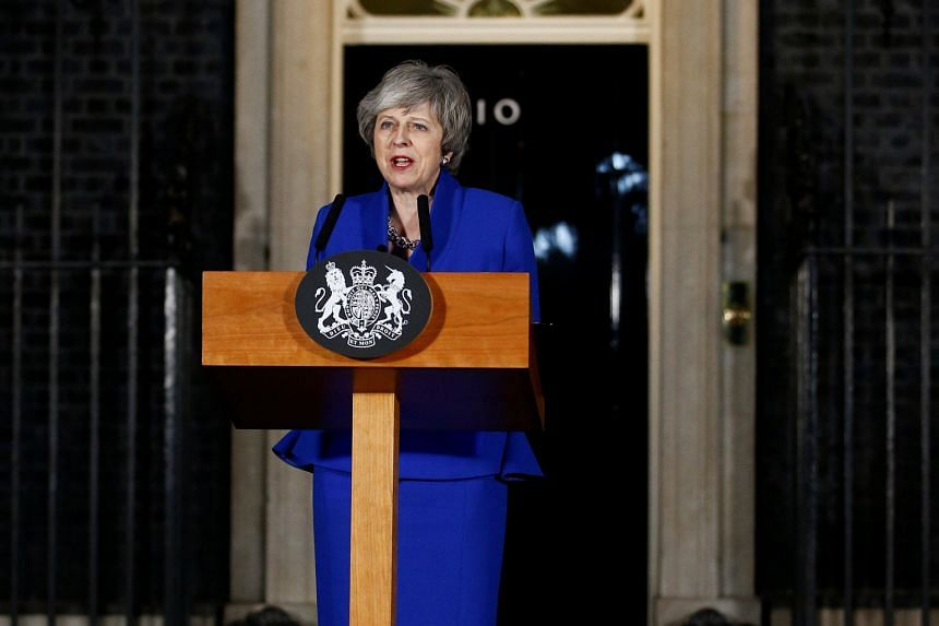 British Prime Minister Theresa May speaking outside 10 Downing Street after she survived a no-confidence vote on Wednesday. Her Brexit deal, the product of 21/2 years of negotiation, was rejected by a margin of 230 votes.