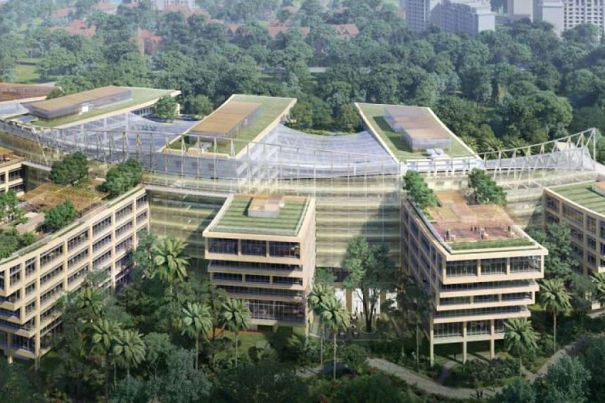 Surbana Jurong Campus is designed by Safdie Surbana Jurong, a partnership with renowned architect Moshe Safdie, and fully funded by an investment from global financial solutions provider M&G Real Estate.