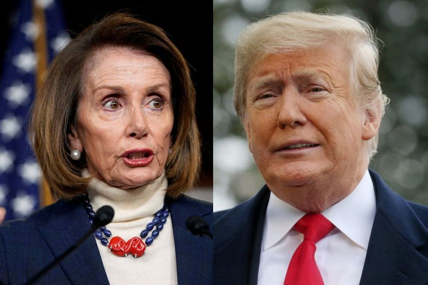 Ms Pelosi was told by Mr Trump that her trip to Belgium, Egypt and Afghanistan had been postponed.