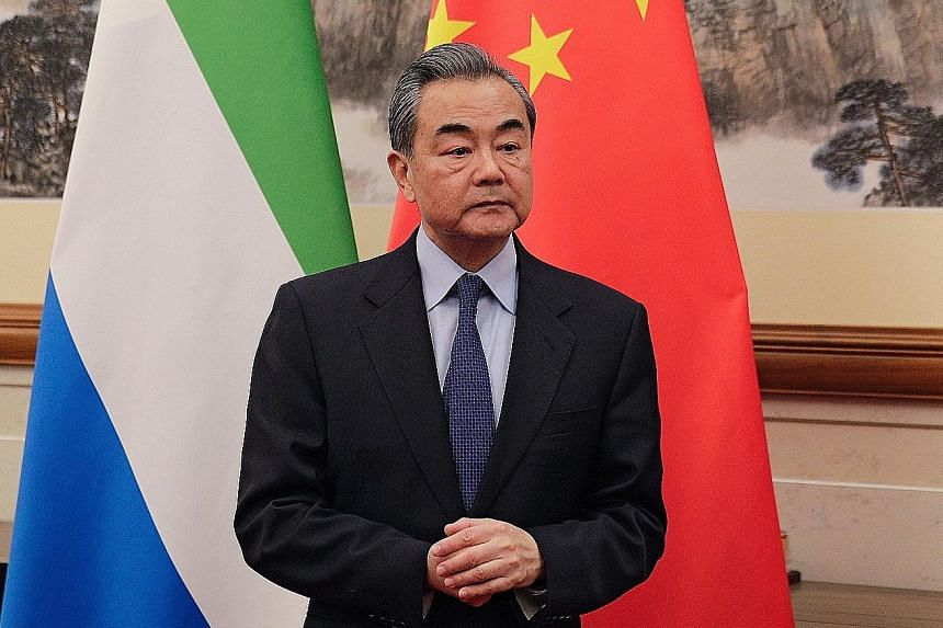 Chinese Foreign Minister Wang Yi said China and the US should deal with sensitive issues in a constructive manner.