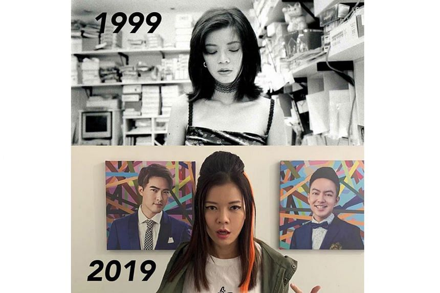 Actress Michelle Chong in her #10YearChallenge post.