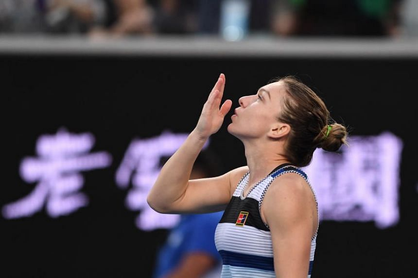 Simona Halep (above) celebrates after defeating Venus Williams during day six of the Australian Open Grand Slam tennis tournament in Melbourne, Australia on Jan 19, 2019.