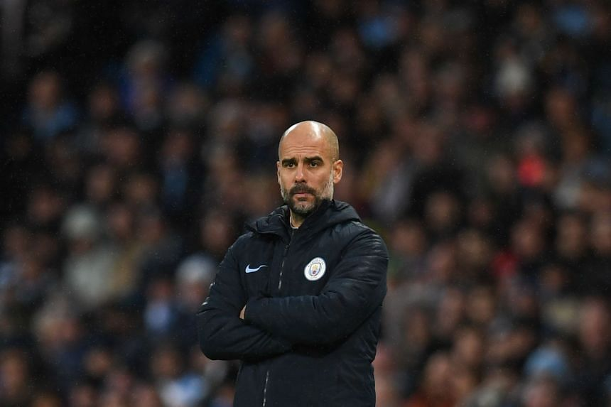 Guardiola (above) made clear he has not been involved in any such activity during his time in England.