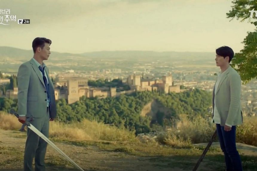 In Memories Of The Alhambra, when Jin-woo (Hyun Bin) discovers that there is a second player in the game, Hyung-seok (played by Park Hoon), he meets him for the first time at Granada's San Miguel Alto Shrine.