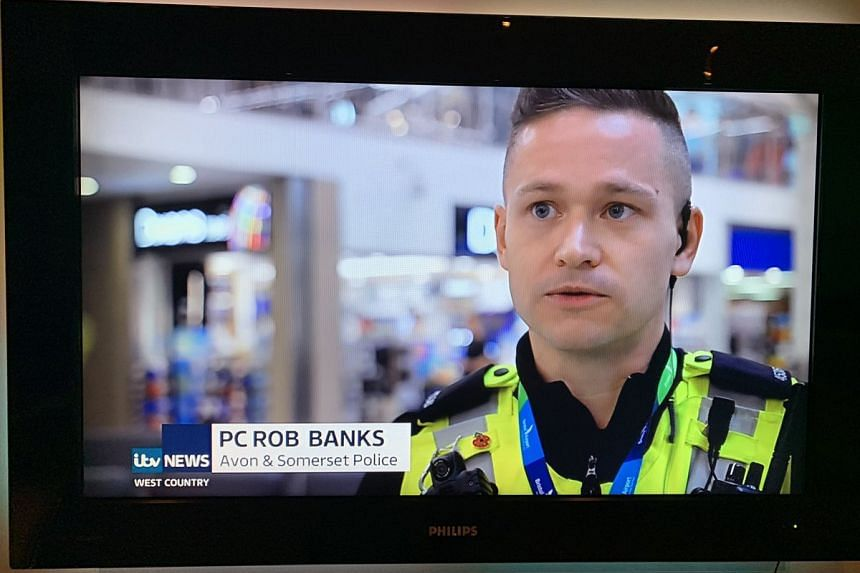 Sharp-eyed Twitter users were tickled pink by officer Rob Banks, who appeared for a few seconds on British television network ITV's news bulletin on Jan 17, 2019.