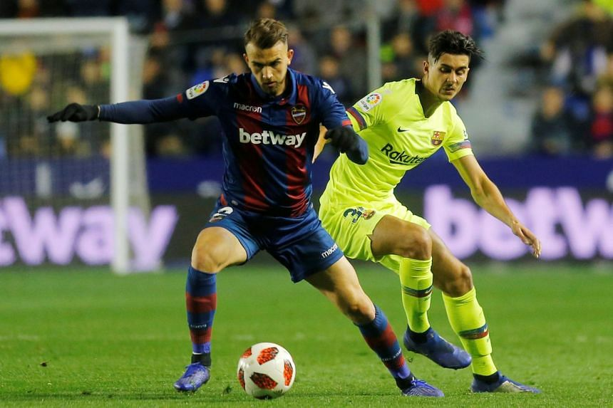Levante claimed that Barcelona fielded an ineligible player in their King's Cup last-16, first-leg match.