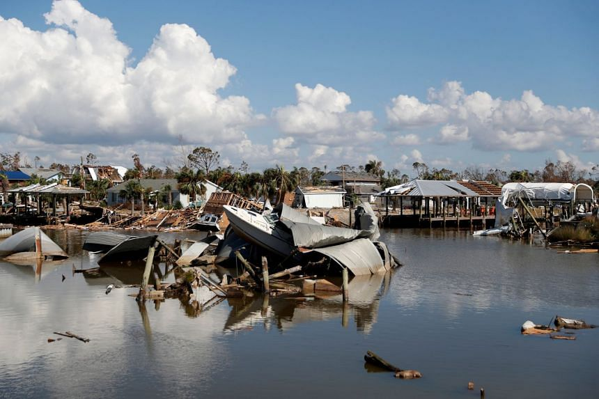 Damage caused by Hurricane Michael is seen in Mexico Beach, Florida, US, on Oct 16, 2018.