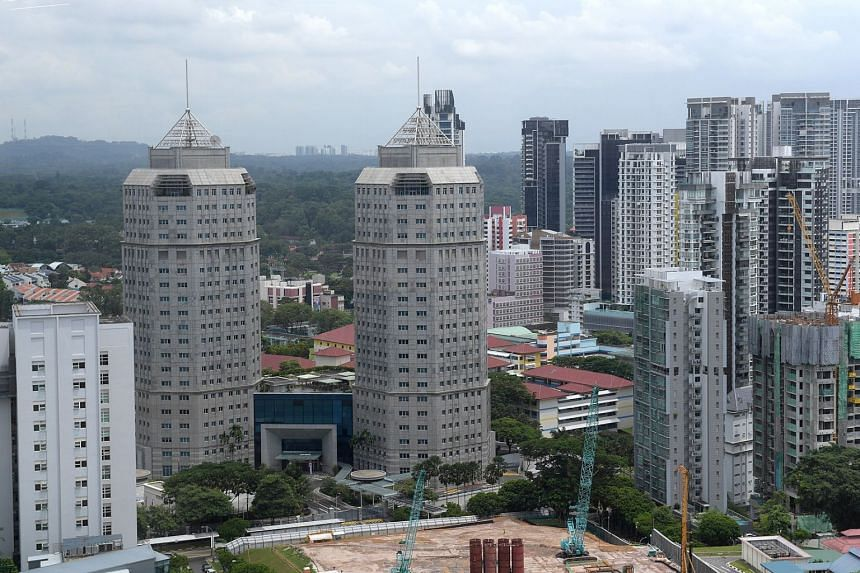 The twin towers of the New Phoenix Park on Irrawaddy Road which houses the Ministry of Home Affairs.