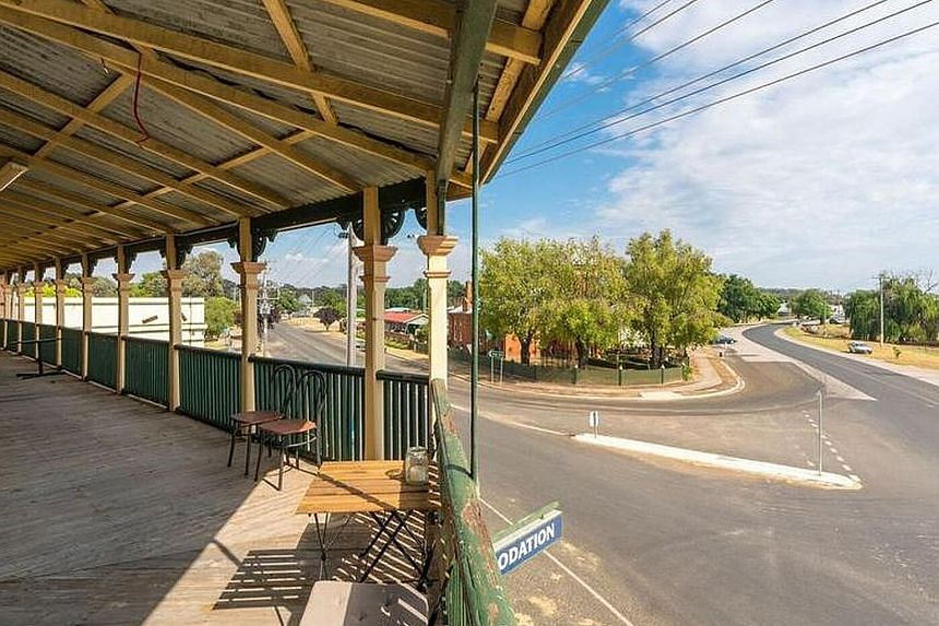 Left: Cumnock in Australia is trying to rejuvenate itself by dangling offers to entice people to come and live in the many houses vacated by residents who have moved away. Above: Gangi, a small town in Italy, offered 20 properties for less than US$2