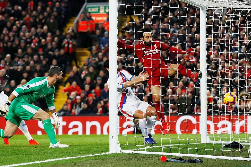 Liverpool suffered a scare as they battled to a 4-3 Premier League win over Crystal Palace, who led through Andros Townsend (34th minute). But goals by Mohamed Salah (46th) and Roberto Firmino (53rd) put Liverpool ahead, before James Tomkins (65th) r