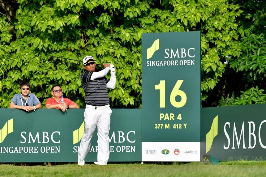 Thai golfer Chapchai Nirat (pictured) carded a five-under 66 in the third round for a 203 total to lie three strokes off Japan's Yoshinori Fujimoto in joint-fourth.