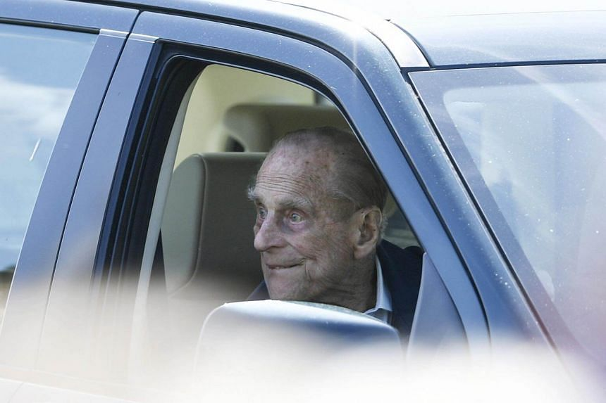 File photo of Britain's Prince Philip watching an event from a car during the Royal Windsor Horse Show in the grounds of Windsor Castle, on May 11, 2018.