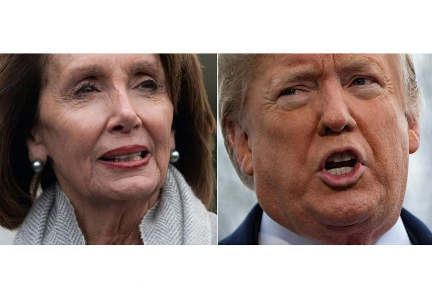 "US Speaker of the House Nancy Pelosi (left) called US President Donald Trump's offer of temporary protections for about a million immigrants in return for US$5.7 billion to fund the wall a ""non-starter""."