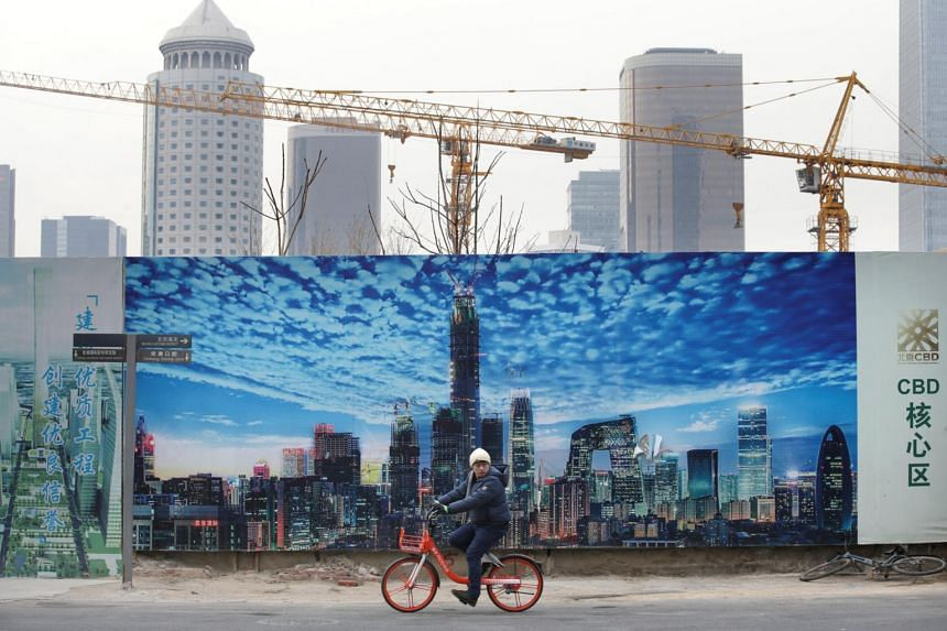 China's gross domestic product rose 6.4 per cent in the fourth quarter from a year earlier, matching economists' estimates.