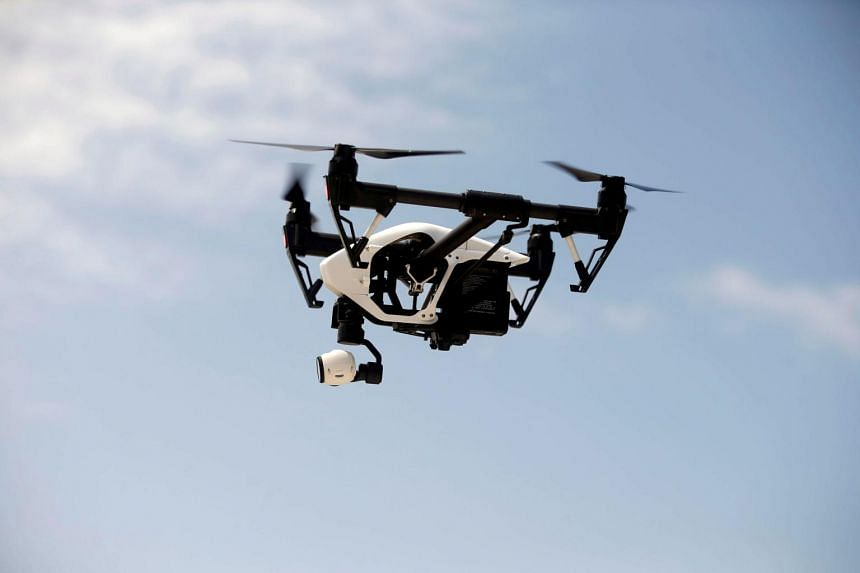 File photo of a DJI Inspire drone during a drone training session for Somali police in Mogadishu, Somalia.