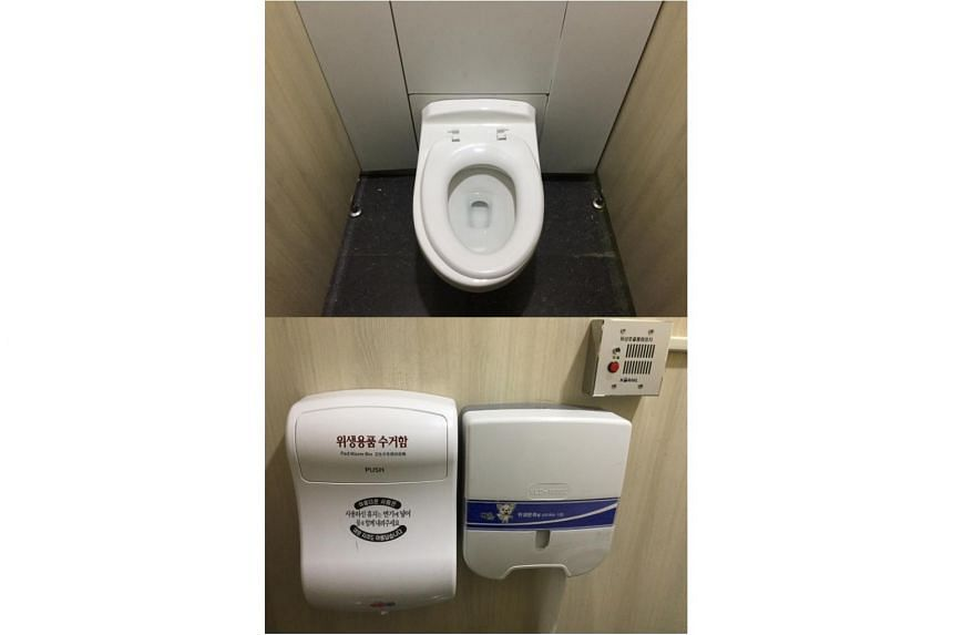 Seoul Station's public restrooms are kept tidy due to the cleaner's efforts.