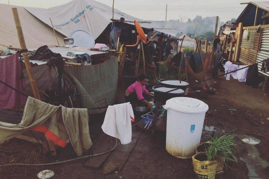 While the residents of two out of five camps have moved into their temporary new homes, hundreds of families still have to live in tents.
