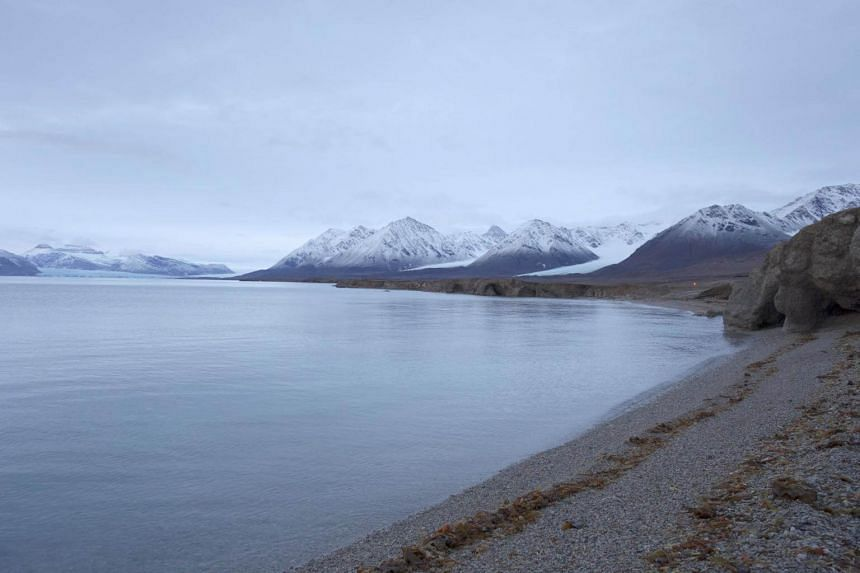 File photo of a beach at the Ny-Aalesund research station on the Arctic archipelago of Svalbard, Norway, on Sept 20, 2016.