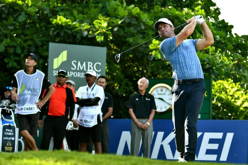 Paul Casey (above) in action during the final round of the SMBC Singapore Open at the Sentosa Golf Club on Jan 20, 2019.