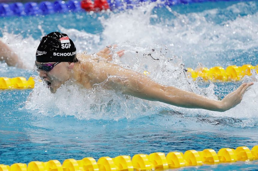 File photo of Joseph Schooling in action at the Fina Swimming World Cup, on Nov 15, 2018.