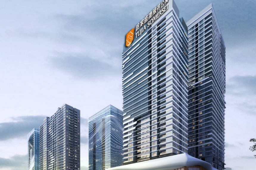 The Tujia Somerset Sumyip Taifu Plaza in Shenzhen. Of the 26 newly secured properties, half will be developed in China from 2019 to 2023, and one is slated to open in Singapore this year.