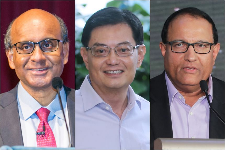 (From left) Deputy Prime Minister Tharman Shanmugaratnam, Finance Minister Heng Swee Keat, and Communications and Information Minister S. Iswaran, who is also Minister-in-Charge of Trade Relations, will speak on a variety of topics, including global