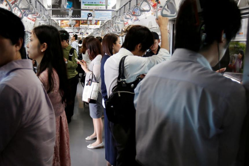 Around 7.2 million people use Tokyo's mammoth metro system every day, with some lines suffering notorious crowding during commuting hours.