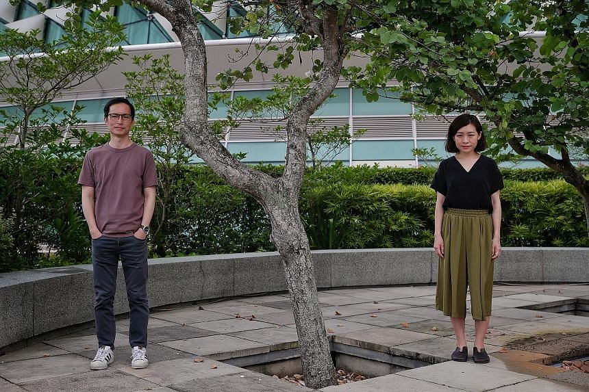Nine Years Theatre's husband-and-wife duo Nelson Chia and Mia Chee (both above) will play pen-pals to each other in Love Letters.
