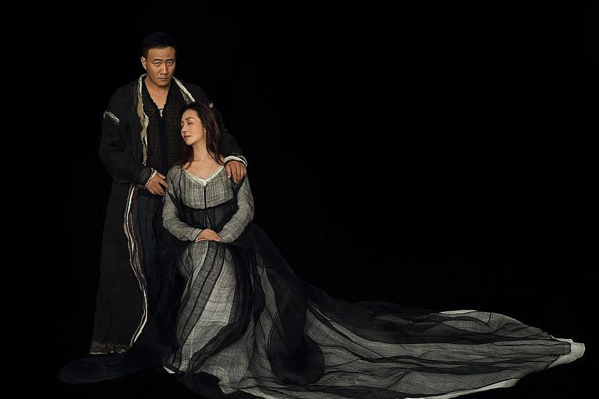 The Tragedy Of Hamlet, Prince Of Denmark stars Hu Jun and Lu Fang (both left), who are a real-life couple.