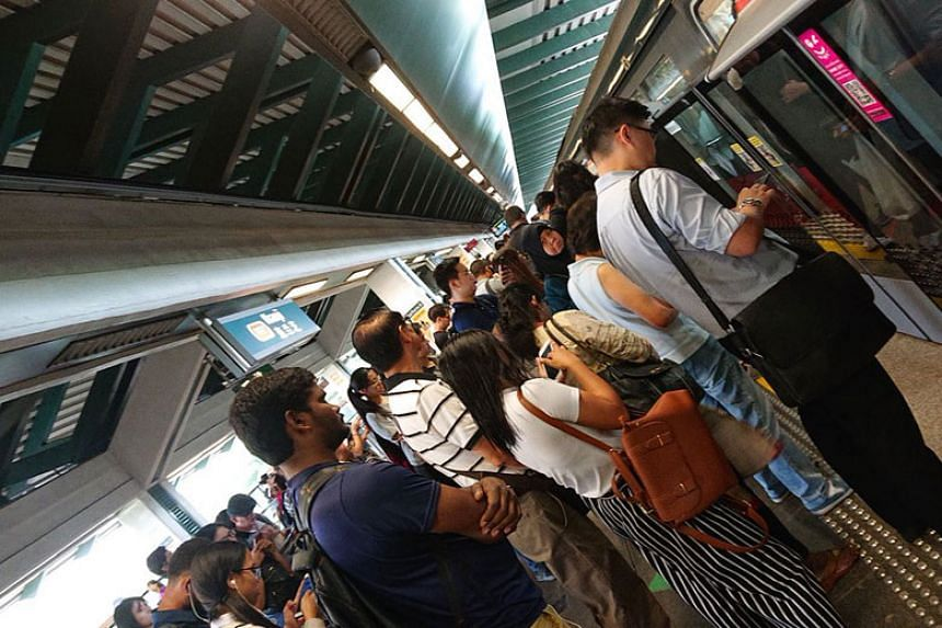 Several commuters also reported that trains travelling in the direction of Marina Bay appeared to be delayed as well.