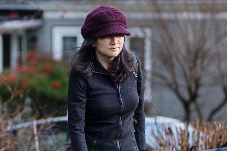 Meng Wanzhou, chief financial officer of Huawei Technologies, leaving her home while out on bail in Vancouver, British Columbia, Canada, on Jan 10, 2019.