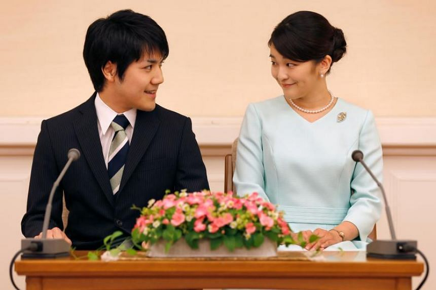 Mr Kei Komuro and Princess Mako had been scheduled to become formally engaged in a traditional Japanese court ceremony last year before a royal wedding planned in late 2018.