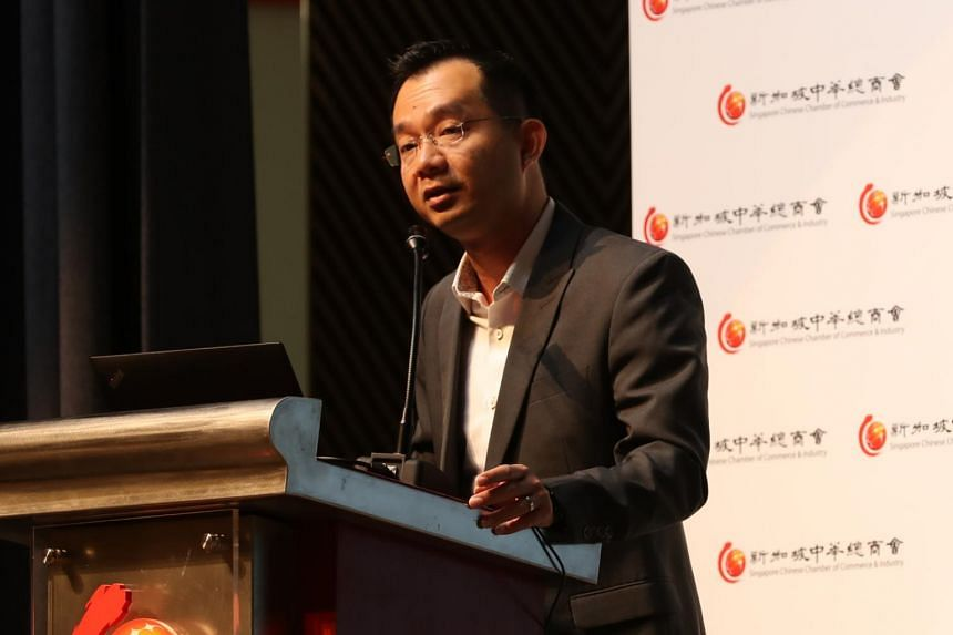 DBS senior economist Irvin Seah speaking at a business outlook forum in Singapore, on Jan 22, 2019.