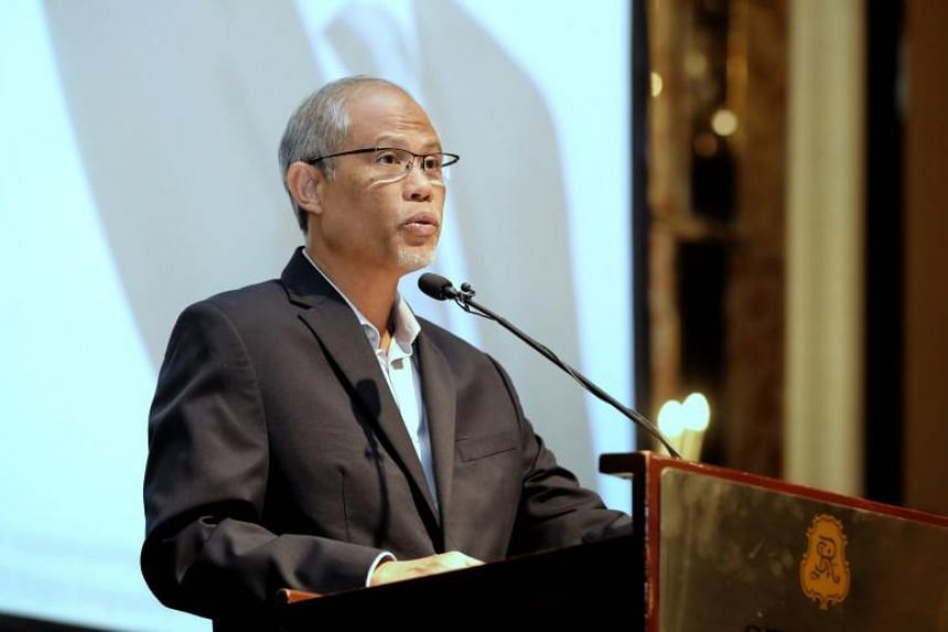 Environment and Water Resources Minister Masagos Zulkifli speaking at a forum organised by sustainable media organisation Eco-Business, on Jan 22, 2019.