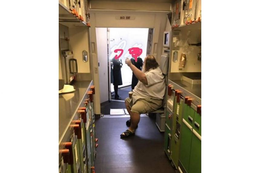 The incident occurred en route a long-haul flight from Los Angeles to Taiwan on Taiwanese airline EVA Air on Jan 19, 2019.