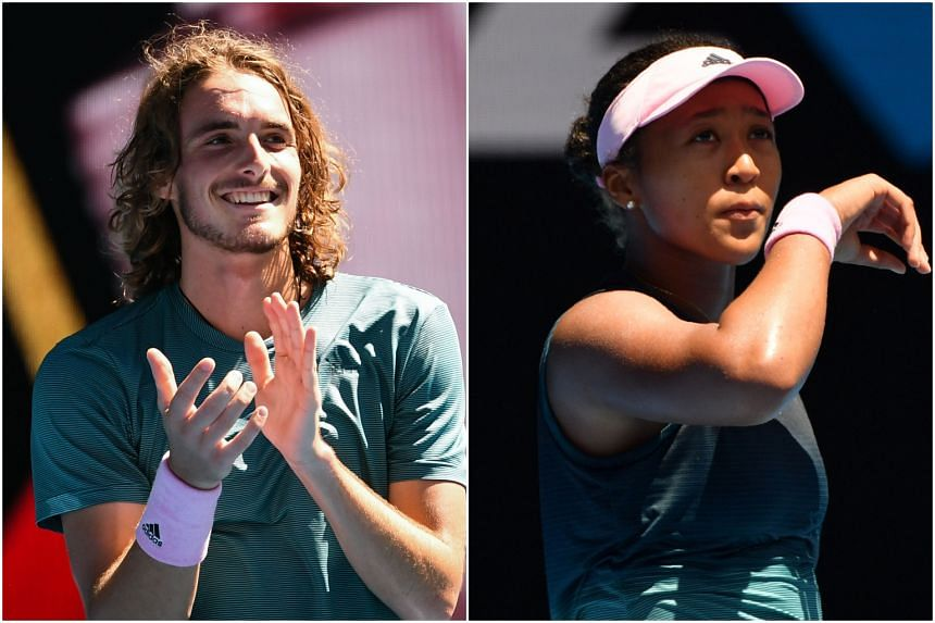 Greece's Stefanos Tsitsipas and Japan's Naomi Osaka are seen as part of a new age in tennis.