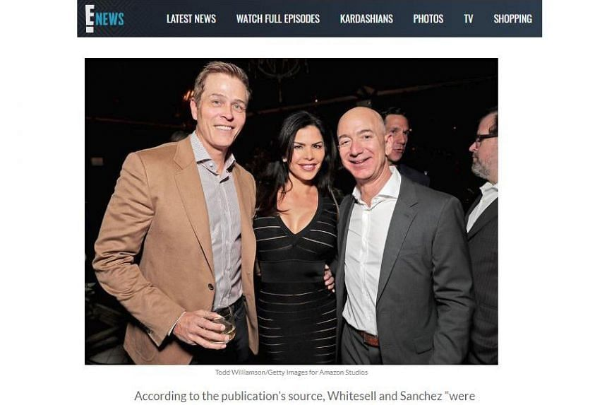 Mr Patrick Whitesell (left) reportedly split with Ms Lauren Sanchez in the second half of 2018. Tabloids have recently published text messages allegedly revealing intimate details of a relationship between Mr Jeff Bezos (right) and Ms Sanchez.