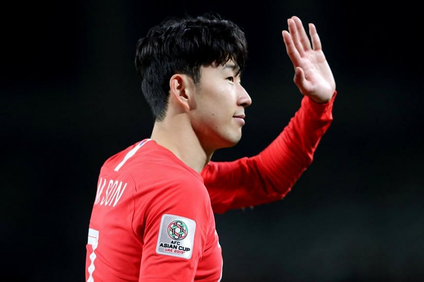 South Korea's Son Heung-Min after the AFC Asian Cup match between South Korea and China at the Al Nahyan Stadium, Abu Dhabi, on, Jan 16, 2019.