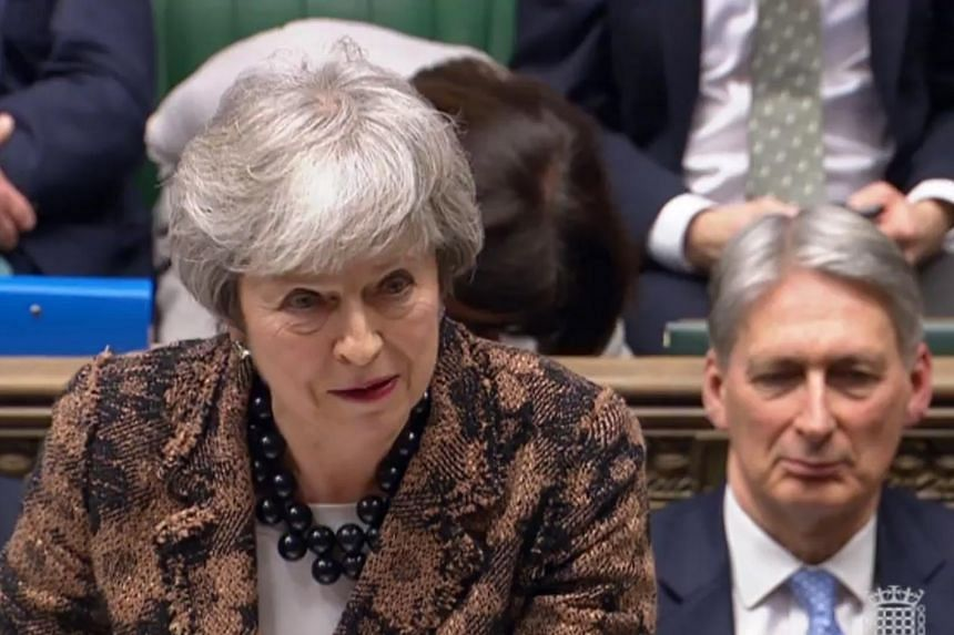 British Prime Minister Theresa May said she could not take a no-deal Brexit off the table as there was not yet an alternative.