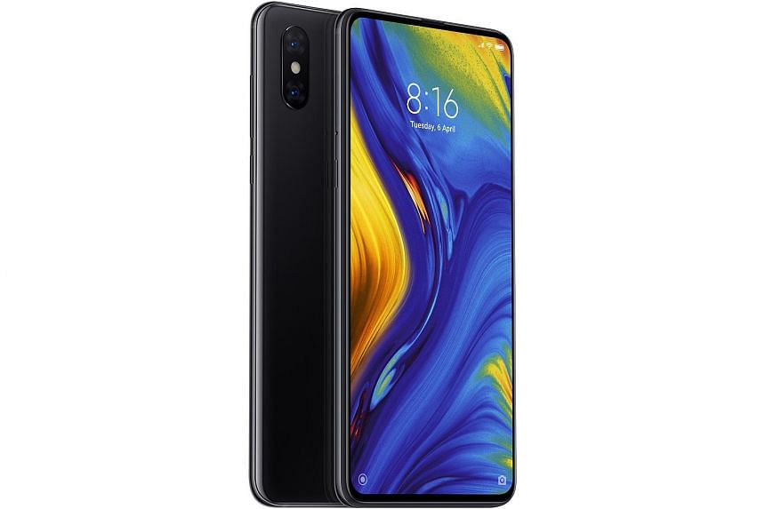 Xiaomi's flagship Mi Mix 3 requires you to slide the screen downwards - to reveal the front camera underneath - by hand.